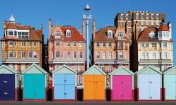 Casitas de playa en la zona de Hove, Brighton
